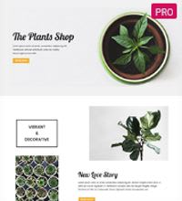 Plants shop - garden centre template
