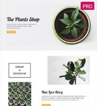 Plants shop - garden centre template