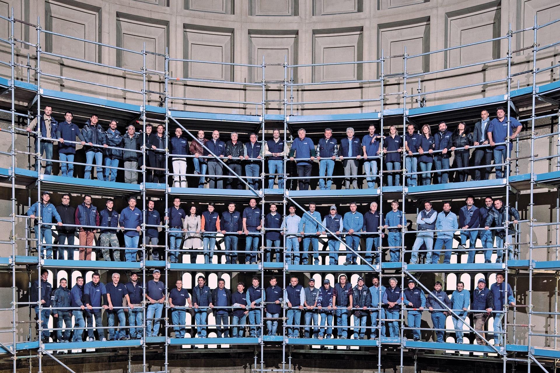 Il team dell'impresa edile Del Bianco