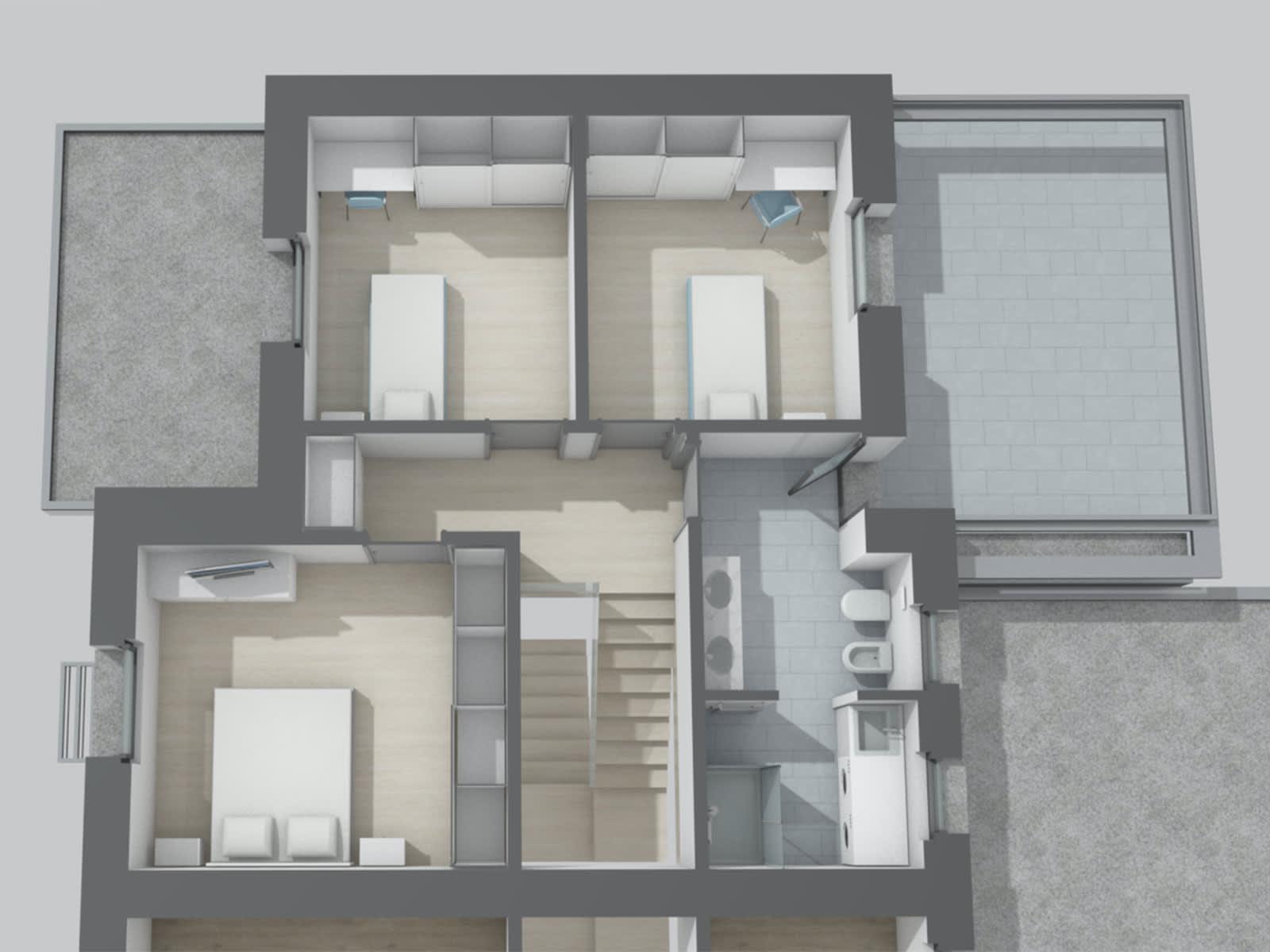 Un'ampia villa bifamiliare ancora da personalizzare e costruire. Alta efficenza energetica e massimo comfort in camere grandi e luminose.