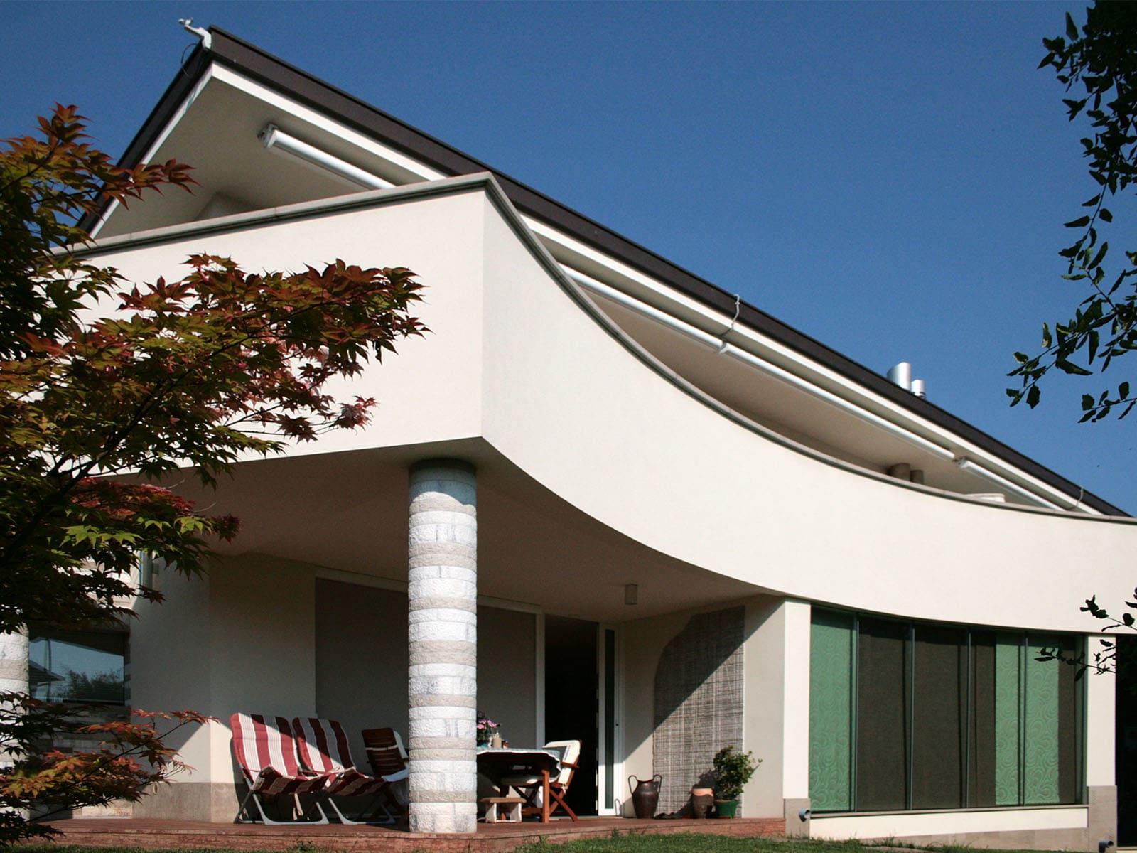 Linee curve per una villa moderna