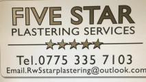 FIVE STAR PLASTERING SERVICE Logo