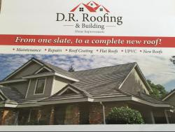 D.R. ROOFING AND BUILDING logo