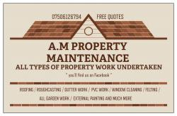 A.m property maintenance logo