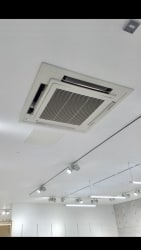 Cassette air conditioning unit fitted by Chill air conditioning ltd
