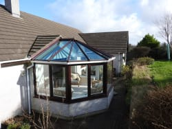 Climate control Active roof lass in a conservatory in Penzance