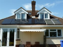 Complimenting the Solar Thermal panels.