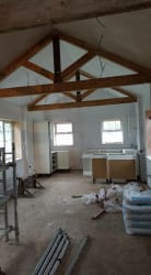 Barn conversion prior to being skimmed