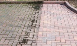 before and after our draveway cleaning