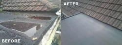 Seamless fibre glass roof