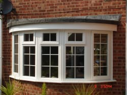 Bay window with White Georgian Inserts