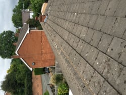 All ridges re-bedded and pointed