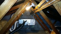 Loft mounted ducted unit