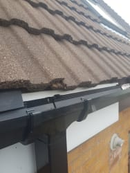 Fascia gutters down pipe and eaves tray