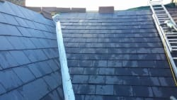 Recent slate roof of ABCO ROOFING & GUTTERING