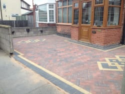 Finished result of new block paving driveway