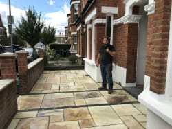 After. New indian sandstone fossil mint