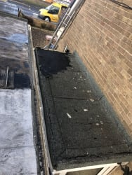 Old leaking felt roof to be reboarded and Epdm rubber roofed