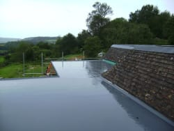 One of are new GRP Fibreglass flat roofs