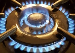 Dual fuel cooker installation