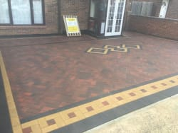 Blockpaving, Brindle Centre With Charcoal & Buff Border