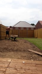 New fence,turf and decking