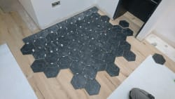 Nice tile design for fire place