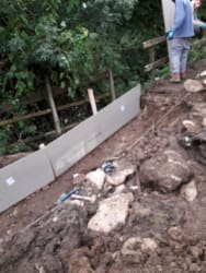 Construction of a new path down by the brook