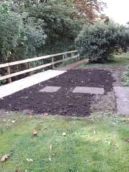 Completion of the new pathway by the brook
