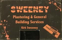 Sweeney Plastering general building services Logo