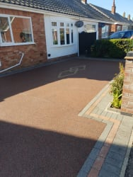 Resin driveway in volcanic ash