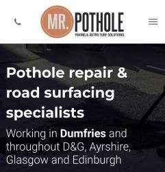 Mr Pothole Paving solution Logo
