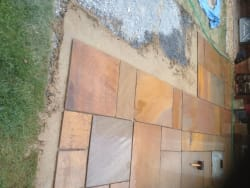 Patio being laid
