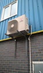 5 kw split outdoor unit serving factory canteen