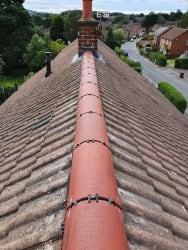 Dry ridge tiles installed Maintenance free