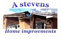 A STEVENS HOME IMPROVEMENTS logo