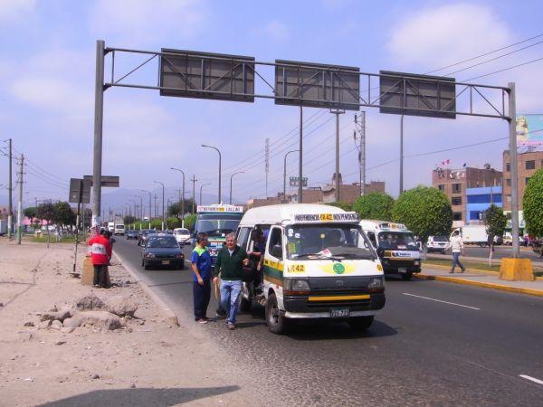 Street near Lima Airport