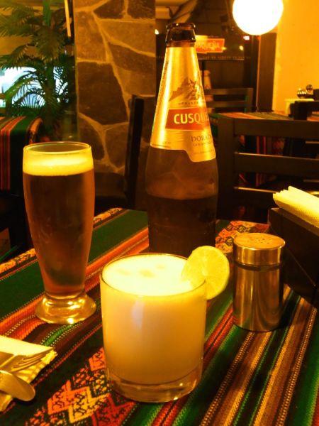 Cusquena and Pisco Sour