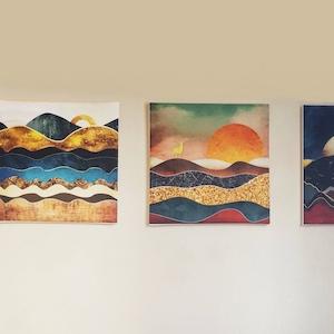 Sunrise, Sunset and Moon Paintings