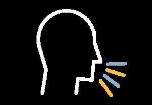 Person speaking icon