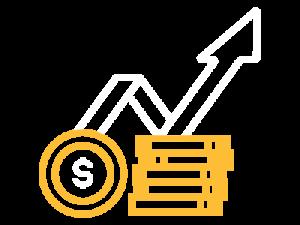 Increase in revenue icon