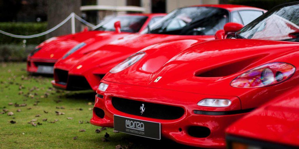Row of Ferraris