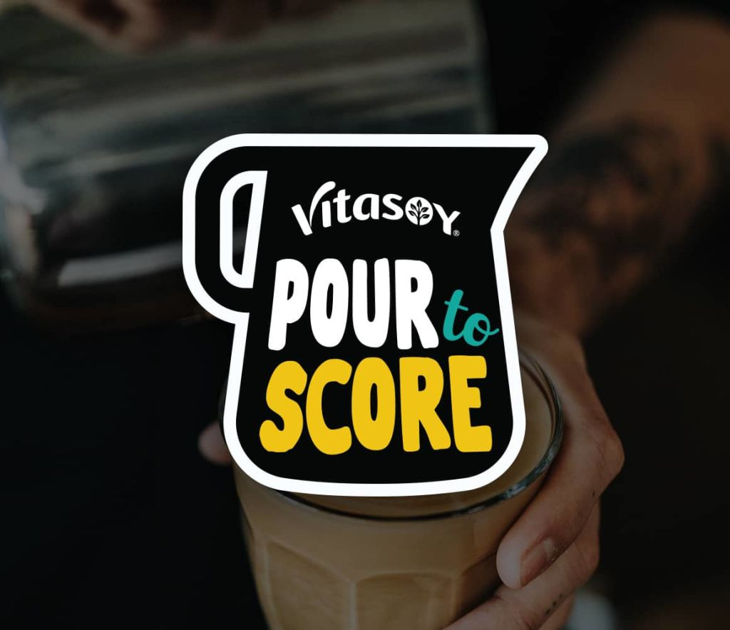 Vitasoy Pour to Score promotion banner