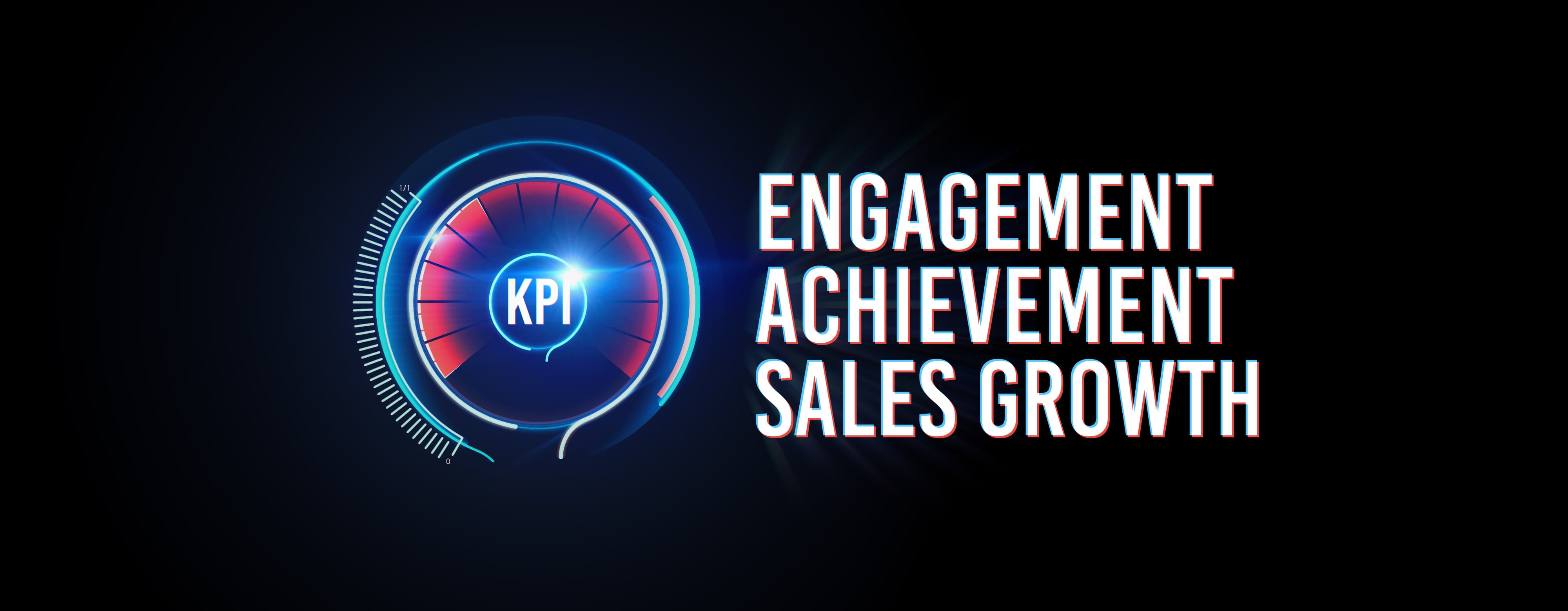 Image reads engagement, achievement and sales growth
