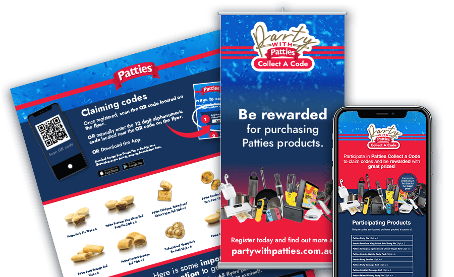 Party with Patties pamphlets and website