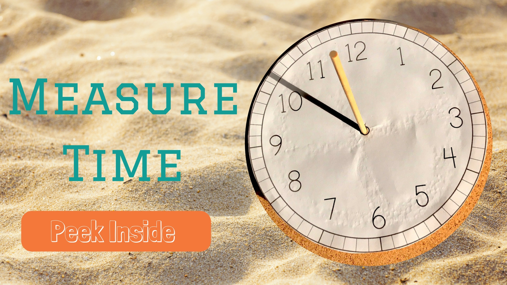 sand timer and sundial activity for kids