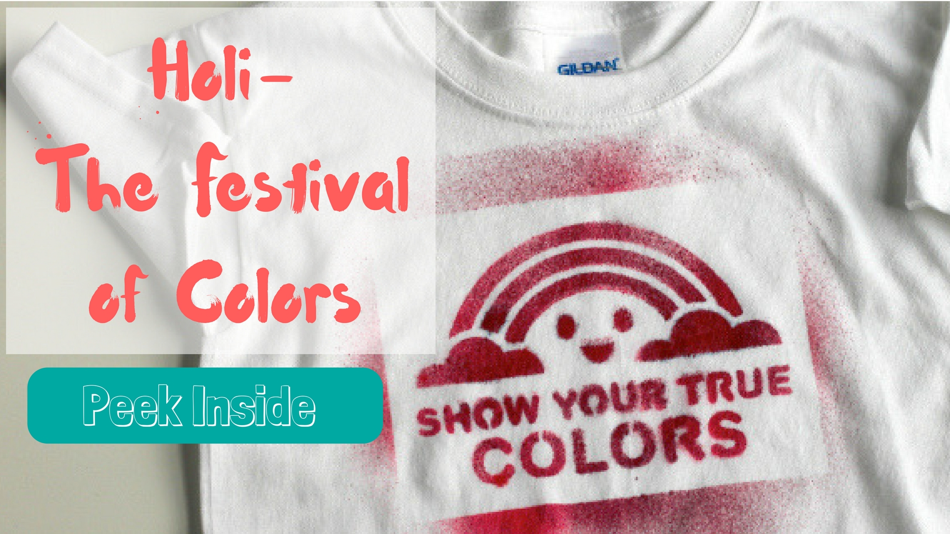 Celebrate Holi with books and activities for preschoolers and Kids