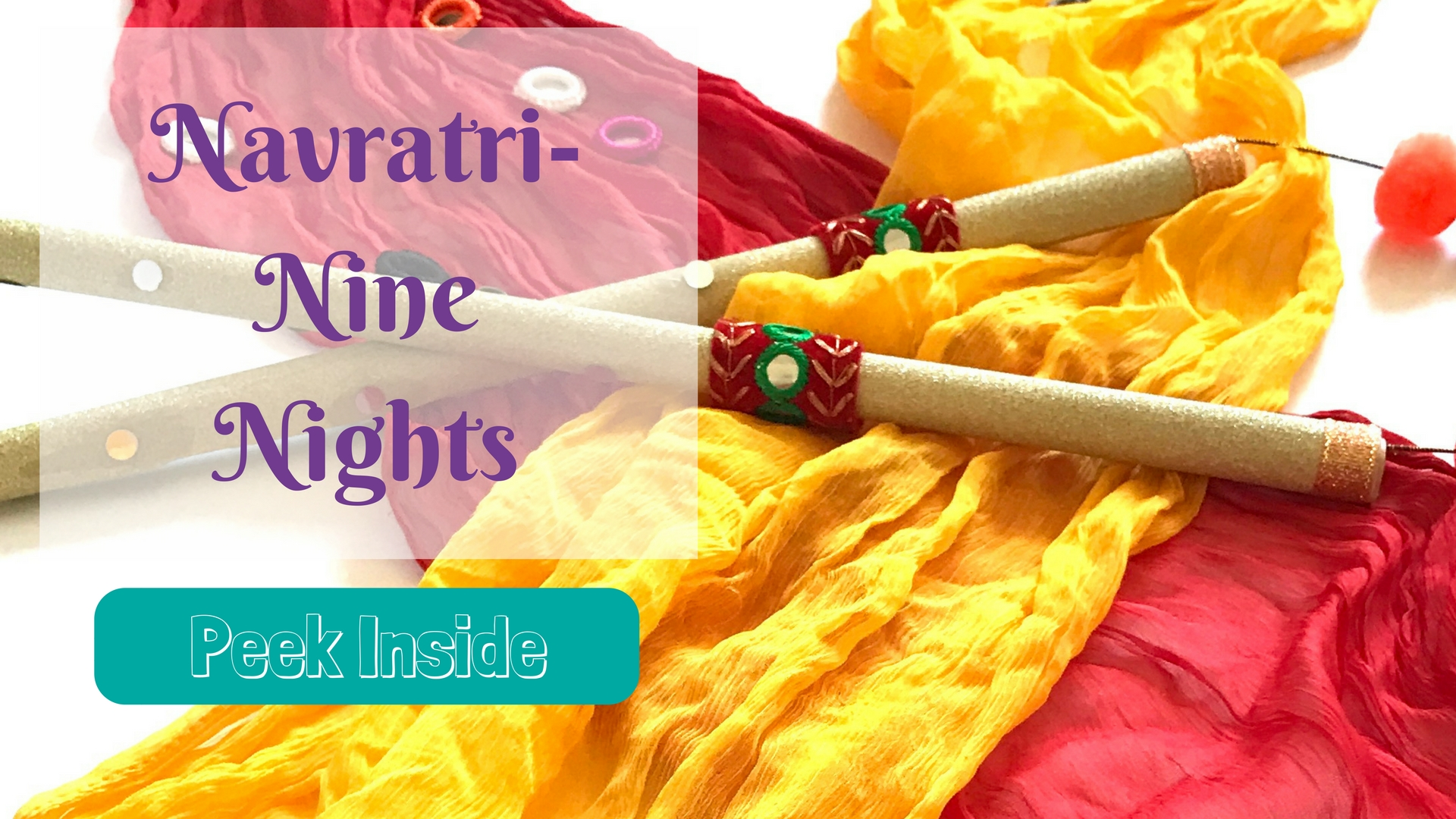 Celebrate Navratri with books and make dandiya sticks for preschoolers and Kids