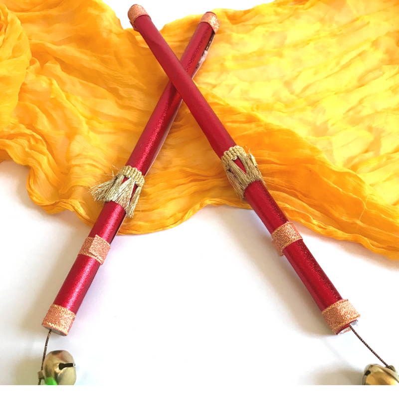 DIY Dandiya Sticks for Preschoolers