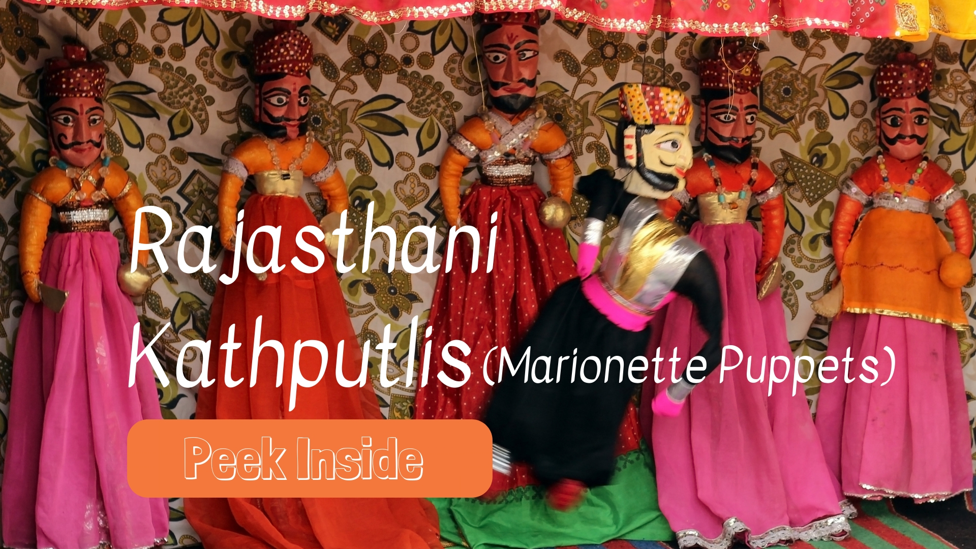 Rajasthani Marionette Puppets for kids